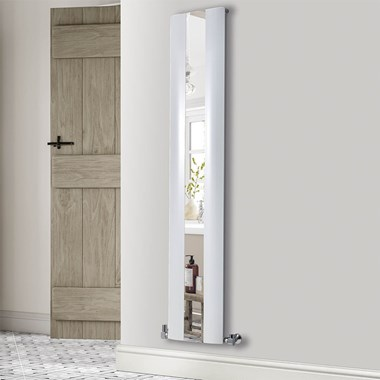 Phoenix Reflect Vertical Designer Wall Mounted Mirrored Radiator - 1800x365mm