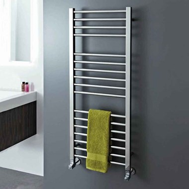 Phoenix Roscoe Stainless Steel Bathroom Straight Heated Towel Rail Radiator