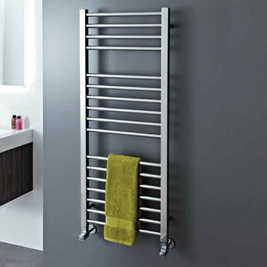 Phoenix Roscoe Electric Stainless Steel Straight Heated Towel Rail Radiator