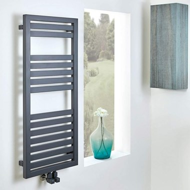Phoenix Shelby Designer Heated Towel Rail - Anthracite - 800x500mm