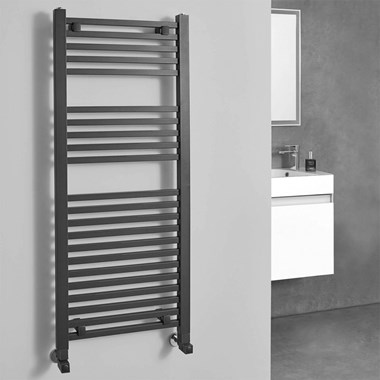 Phoenix Sophia Vertical Electric Designer Heated Towel Rail - Anthracite - 800x500mm
