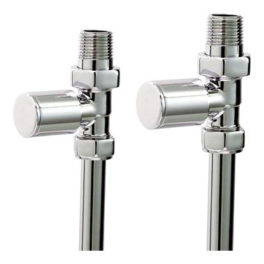 Phoenix Straight Radiator Valves Chrome