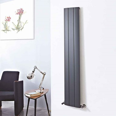 Phoenix Vega Vertical Designer Wall Mounted Aluminium Radiator - 1600x280mm