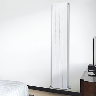 Phoenix Zion Designer Wall Mounted Double Panel Aluminium Radiator - 1800x375mm
