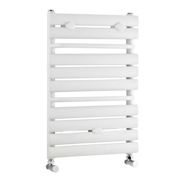 Premier Heated Ladder Towel Rail - High Gloss White - 640 x 445mm