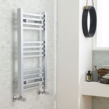 Premier Square Heated Towel Rail - Chrome
