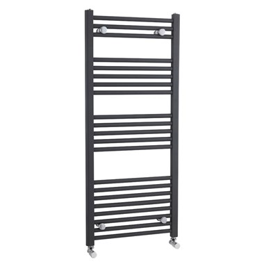 Premier Straight Heated Towel Rail - Anthracite