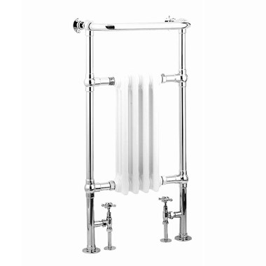 Reina Alicia Chrome Traditional Designer Radiator - H952 x W479mm
