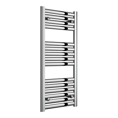 Reina Anita Polished Aluminium Heated Ladder Towel Radiator