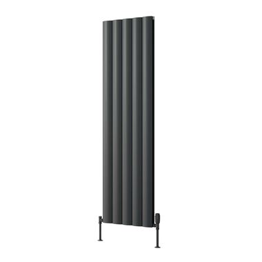 Reina Belva Double Panel Vertical Designer Radiator - Anthracite - 1800 x 308mm