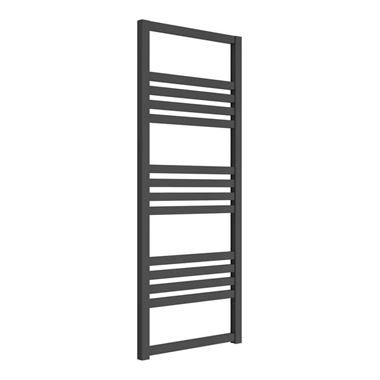 Reina Bolca Anthracite Aluminium Heated Ladder Towel Radiator - 1200 x 485mm