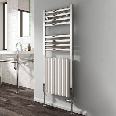 Reina Burton Aluminium Heated Ladder Towel Radiator - 1180 x 485mm