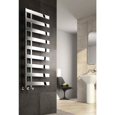Reina Capelli Vertical Stainless Steel Designer Radiator