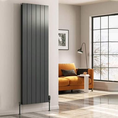 Reina Casina Aluminium Vertical Panel Designer Radiator - Anthracite