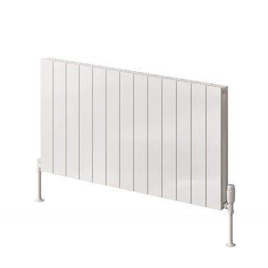 Reina Casina Double Panel Horizontal Designer Radiator - White - 600 x 850mm
