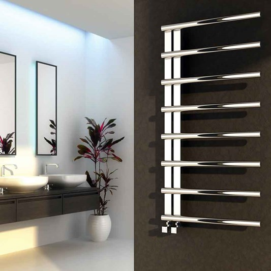 Reina Celico Polished Stainless Steel Heated Towel Rail