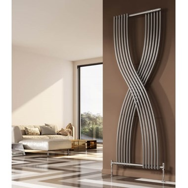 Reina Dimaro Designer Chrome Radiator - 1760 x 620mm