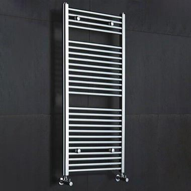 Reina Diva Chrome Flat Heated Towel Rail