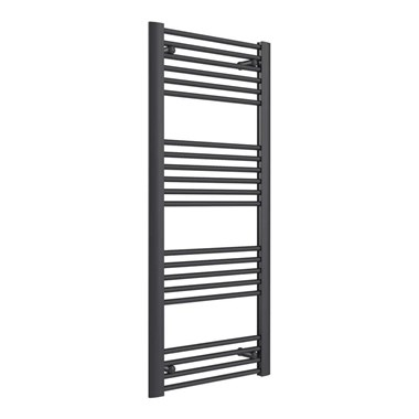 Reina Divale Anthracite Aluminium Heated Ladder Towel Radiator