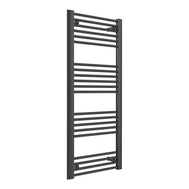 Reina Divale Anthracite Aluminium Heated Ladder Towel Radiator - 1200 x 530mm