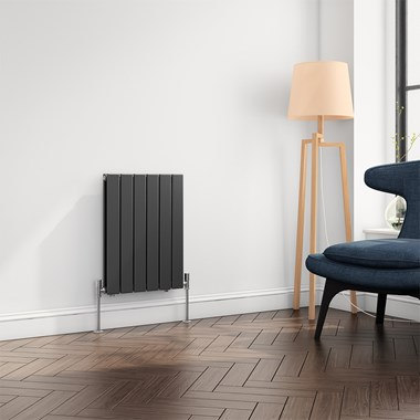 Reina Flat Panel Horizontal Designer Radiator - Anthracite