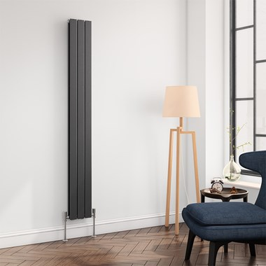 Reina Flat Panel Vertical Designer Radiator - Anthracite