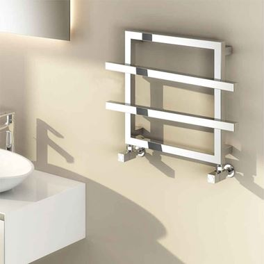 Reina Lago Designer Steel Heated Towel Rail - 450 x 600mm