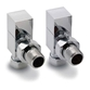 Reina Loge Angled Radiator Valves - Polished Chrome
