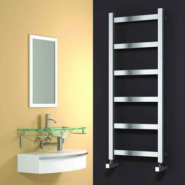 Reina Mina Polished Stainless Steel Heated Towel Rail
