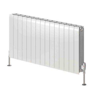 Reina Miray Aluminium Horizontal Designer Radiator - White - 430 x 1200mm