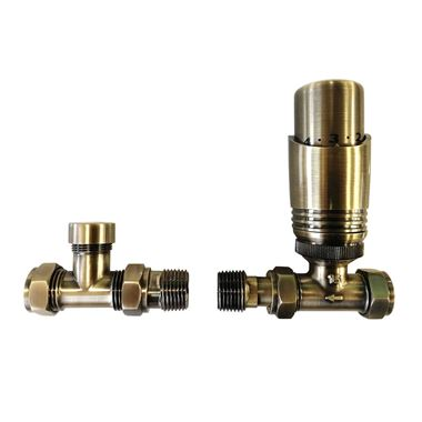 Reina Modal TRV Thermostatic Straight Radiator Valve - Bronze