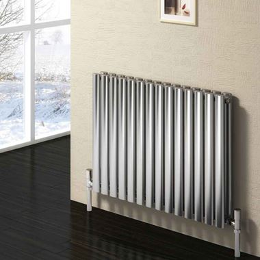 Reina Nerox Horizontal Panel Designer Radiator - Satin Stainless Steel