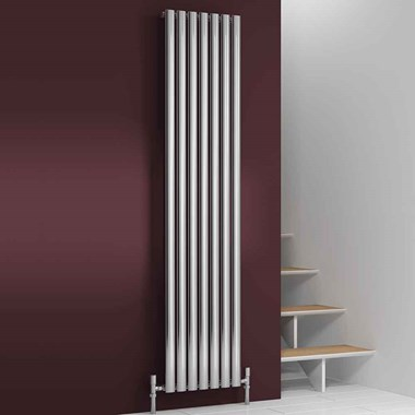Reina Nerox Single Panel Vertical Designer Stainless Steel Radiator