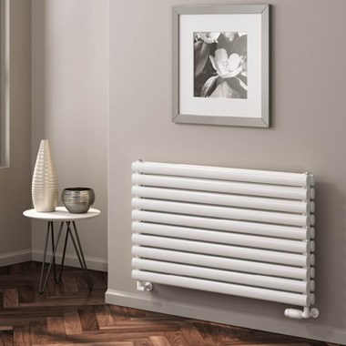 Reina Nevah Horizontal Panel Designer Radiator - White