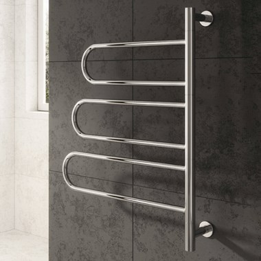 Reina Orne Polished Stainless Steel Dry Electric Towel Warmer - 760 x 580mm