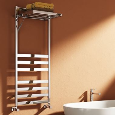 Reina Porte Designer Dual Fuel Heated Towel Warmer - Chrome - 1200 x 500mm