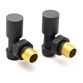Reina Portland Angled Radiator Valves 15mm - Anthracite