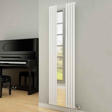 Reina Reflect Vertical Designer Wall Mounted Mirrored Radiator - H1800 x W445mm