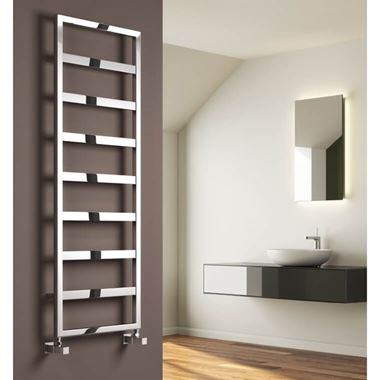 Reina Rezzo Designer Dual Fuel Heated Towel Rail - Chrome