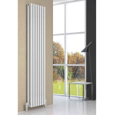 Reina Round Double Panel Vertical Designer Steel Radiator
