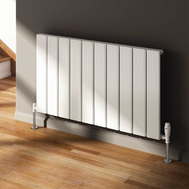 Reina Stadia Single Panel Aluminium Horizontal Designer Radiator