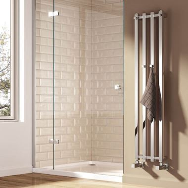 Reina Todi Designer Dual Fuel Heated Towel Rail - Chrome