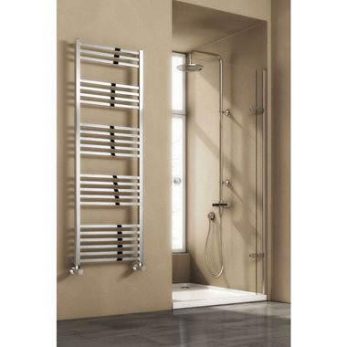 Reina Vasto Vertical Steel Designer Heated Towel Rail
