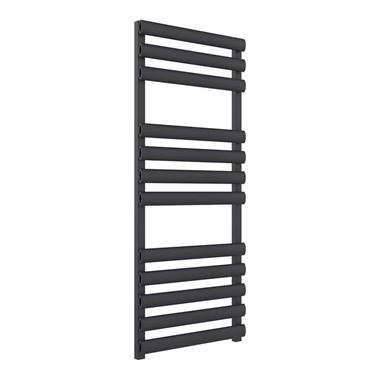 Reina Veroli Anthracite Aluminium Heated Ladder Towel Radiator