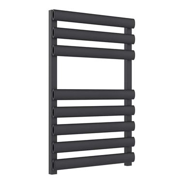 Reina Veroli Anthracite Aluminium Heated Ladder Towel Radiator - 750 x 480mm