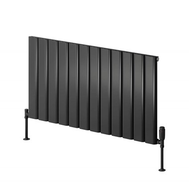 Reina Vicari Aluminium Single Panel Horizontal Designer Radiator - Anthracite - 600 x 600mm
