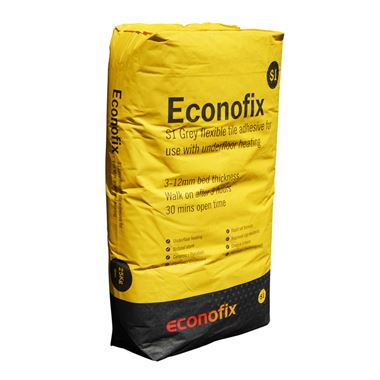 Thermosphere Econofix Flexible Tile Adhesive - Grey