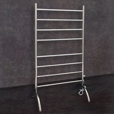 Thermosphere Floorstanding Round Dry Electric Towel Rail - 1080 x 600mm