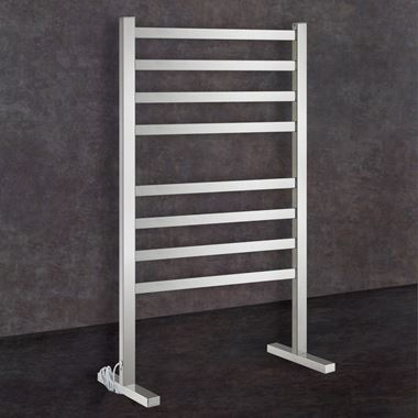 Thermosphere Floorstanding Square Dry Electric Towel Rail - 900 x 590mm