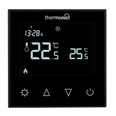 Thermosphere 7.6iG Glass Programmable Thermostat - Black Glass